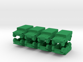 1/200 Humvee M1035 set of 8 in Green Strong & Flexible Polished