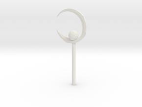 Sailor Moon Crescent Moon Wand in White Strong & Flexible