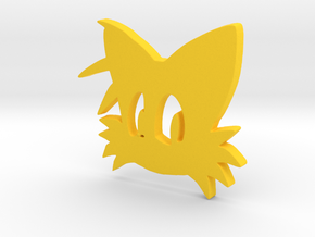 3D Tails Logo in Yellow Strong & Flexible Polished