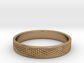 0227 Lissajous Figure Ring (Size15.5, 24.2 mm)#032 in Polished Brass