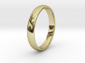 Ring Size 7 1I2 smooth in 18k Gold