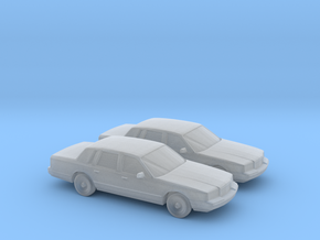 1/160 2X 1996 Lincoln Town Car in Frosted Ultra Detail