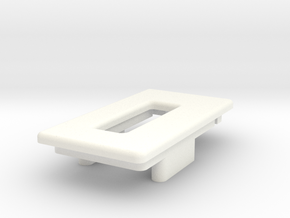 DNA40 Big Screen Mounting Plate in White Strong & Flexible Polished