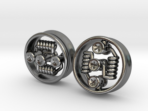 "NEW 1"" RDA PLUGS PAIR - CHEAPEST OPTION! in Polished Silver"