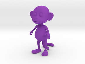 Tiny Monkey in Purple Strong & Flexible Polished