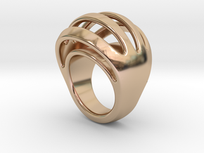 RING CRAZY 25 - ITALIAN SIZE 25  in 14k Rose Gold Plated