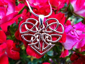 Heart Celtic Knot Pendant in 14k Rose Gold Plated