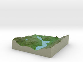 Terrafab generated model Mon Jun 29 2015 09:52:06  in Full Color Sandstone