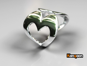Valentin - Ring - US 6¾ - 17,12 mm inside diameter in Polished Silver