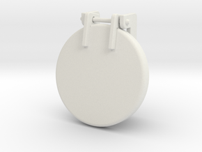 Sand Hatch stubby in White Strong & Flexible