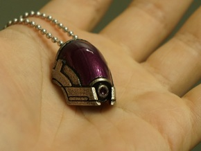 Tali Mask/Helmet Pendant in Polished Nickel Steel