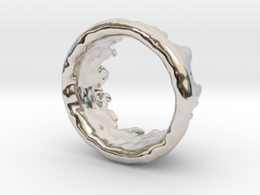 Ring Melting No.9 in Rhodium Plated