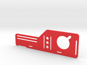 FPV RX and Battery mount - center mount in Red Strong & Flexible Polished