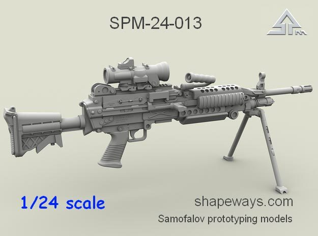 1/24 SPM-24-013 m249 MK48mod0 7,62mm machine gun