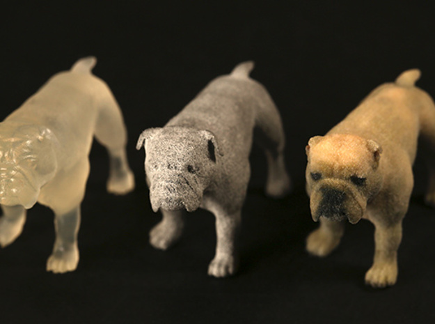 Bulldog S Full Color Sandstone 3d printed Frosted ultra detail, alumide, full color sandstone all S size