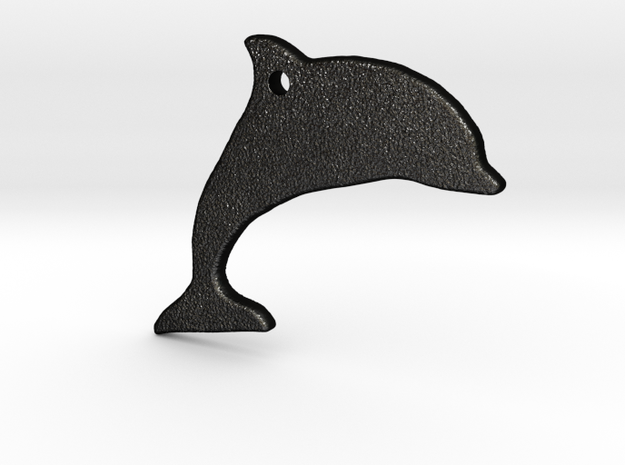 Dolphin Necklace Pendant 3d printed