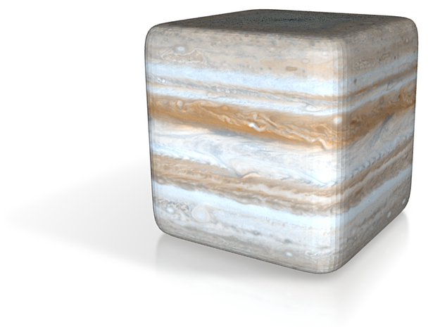 Cube Planet : Jupiter, 1inch 3d printed