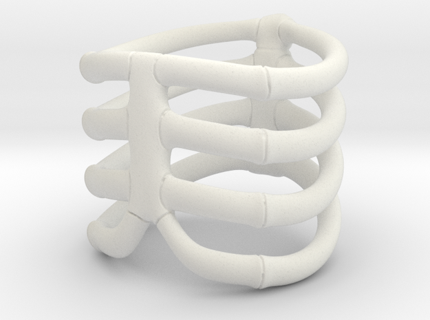 Thorsten 4 Rib - Ring - US 9 - 19 mm inside 3d printed