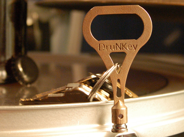 DruNKey v2.0 - A Drum Key Bottle Opener 3d printed Stick it in the high hole if you want!