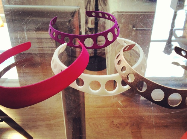 Steel Neckbangle 3d printed plastic and steel selection