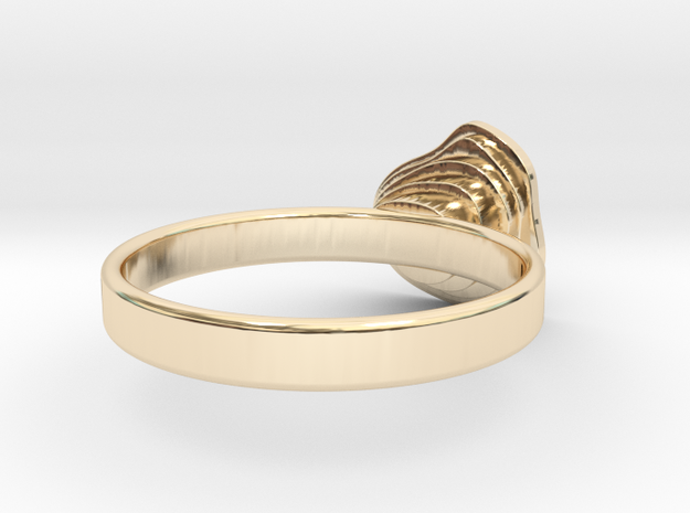 Gold Mine ring - UK Q (inside diameter 18.34mm) 3d printed