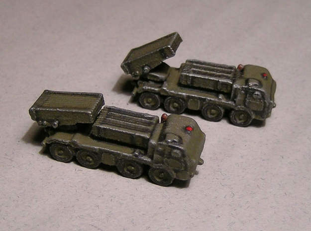 1/300 RM70 Rocket Launcher on Tatra 813 3d printed Models painted by Fred Oliver