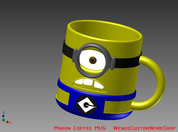 Despicable Me Minion Mug 3d printed