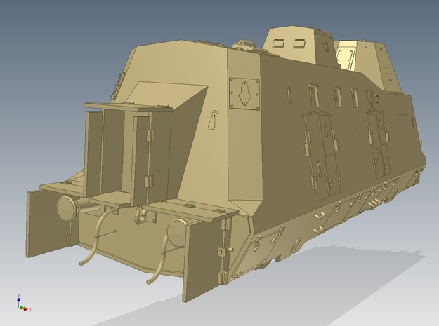 G-Wagen Armored Train BP-42 1-72 3d printed