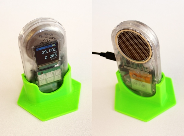 Onyx Geiger Counter Stand 3d printed
