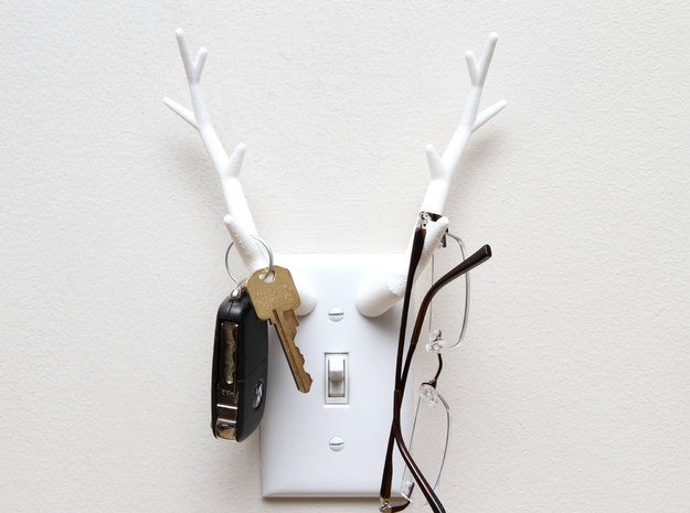 Antler Light Switch Plate Cover 3d printed