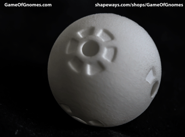 Round Die 3d printed Printed in White Strong & Flexible