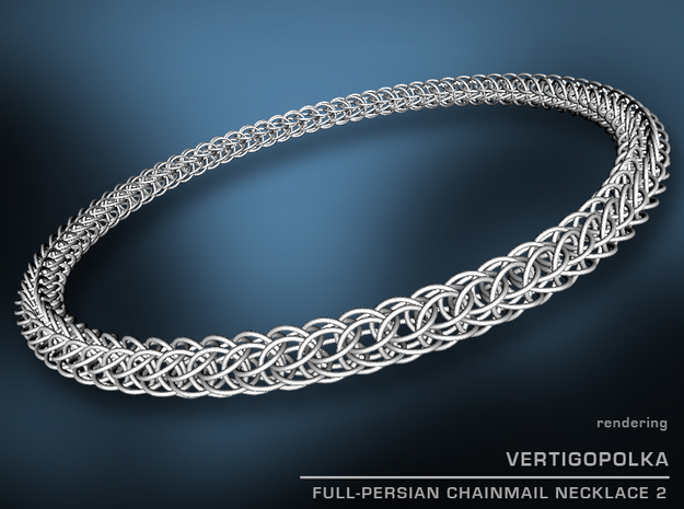 Full-Persian Chainmail Necklace 2 3d printed