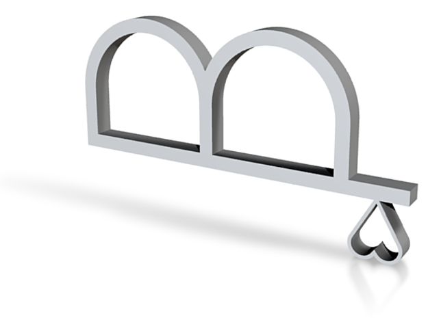 tinny heart double ring 3d printed