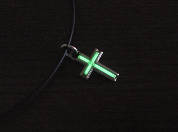 Tritium Cross 3d printed