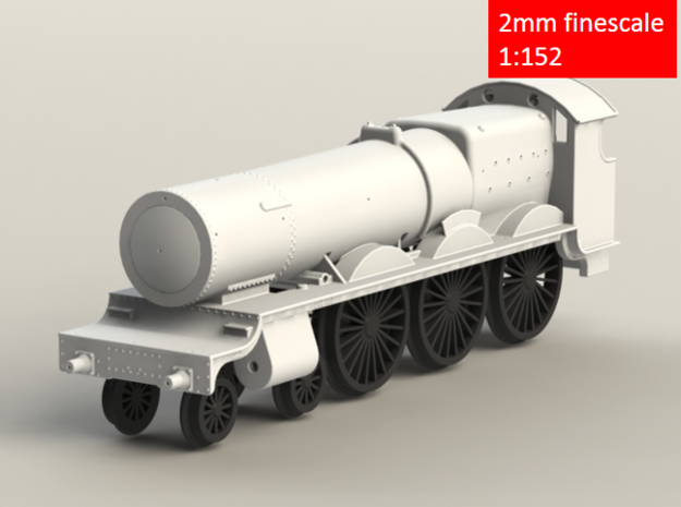 GWR Saint class locomotive, 2mm FS 3d printed Rendering - Front