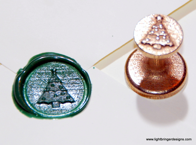Christmas Tree Wax Seal 3d printed