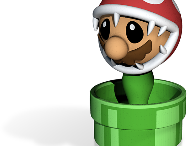 Game Over Mario 3d printed