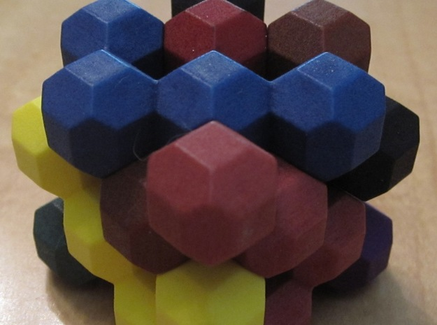 Ell of a puzzle 3d printed Solved puzzle without case