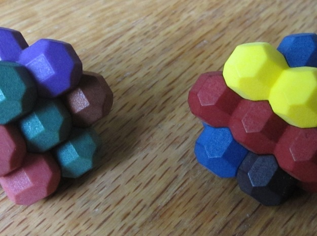 "Ell of a puzzle 3d printed Alternate assembly into two ""Blossoms""."