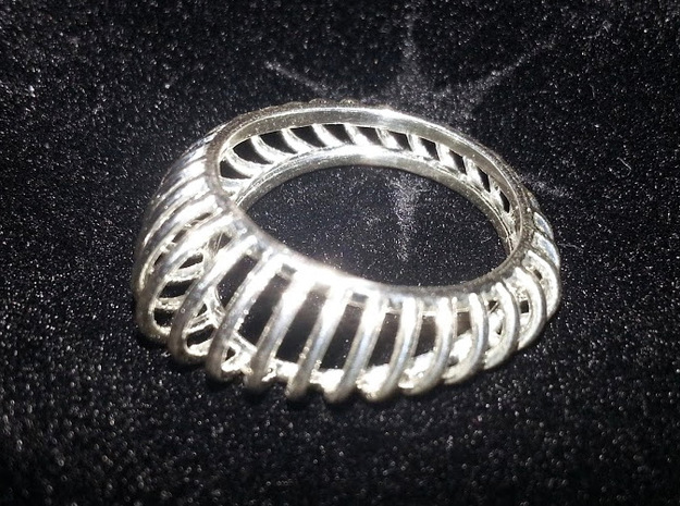 Birdcage Ring 3d printed