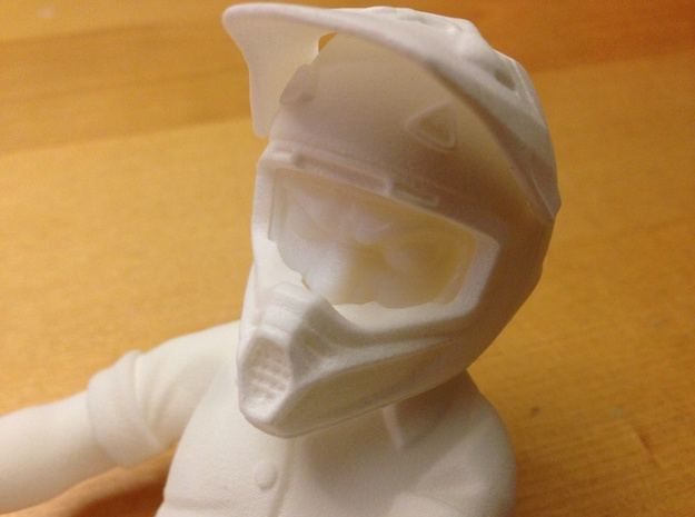 WW10004 Wild Willy Moto Helmet - Back 3d printed