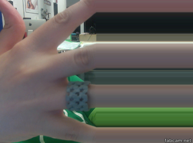 Borg Cube Ring Size 12 3d printed Rocking the size 12