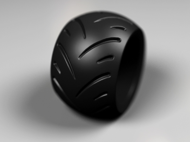 Max Power - Ring - 22.5 mm inside diameter. 3d printed Black Strong & Flexible - color preview Render Matte Black Steel preview Render