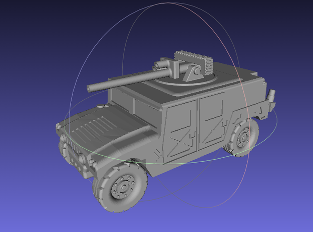 1/144 Humvee with Bushmaster (Single Pack) 3d printed