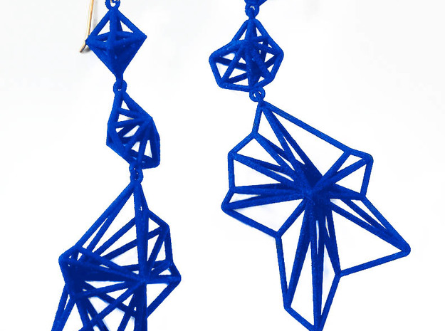 Andromeda Earrings 3d printed