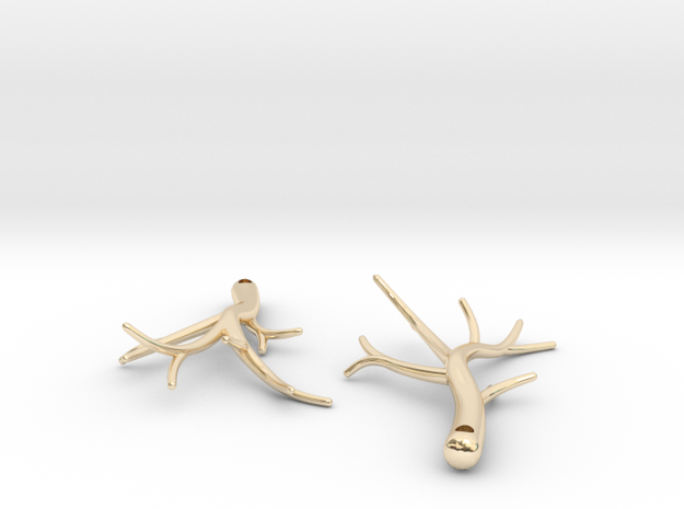 Twiggy Earrings 3d printed
