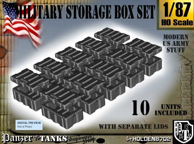 1-87 Military Storage Box Set