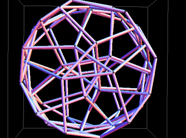 Crystalline Network Pendant 3d printed Top view