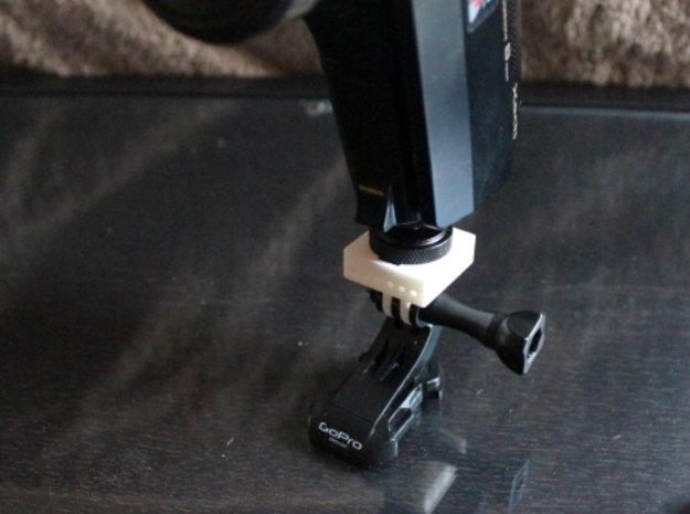 GoPro to Hotshoe to Tripod Mount 3d printed Fits any camera with a 1/4inch Tripod thread