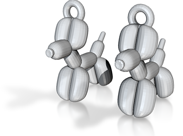 earrings Balloon dog 3d printed